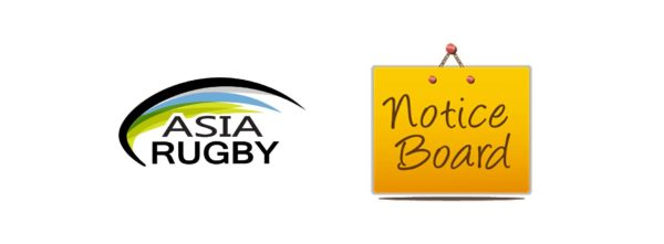 Asia Rugby Noticeboard